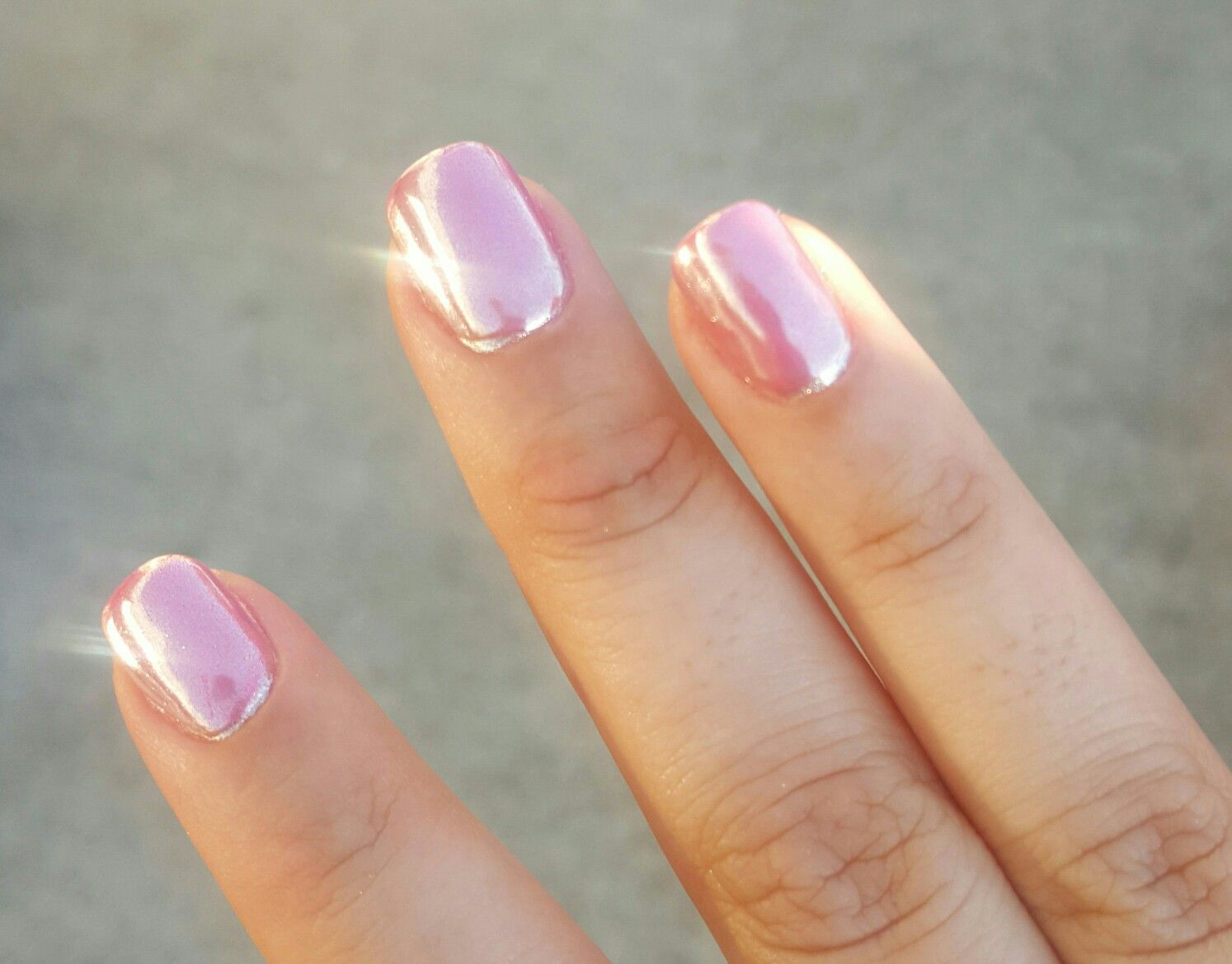 My Pink Chrome Nails
