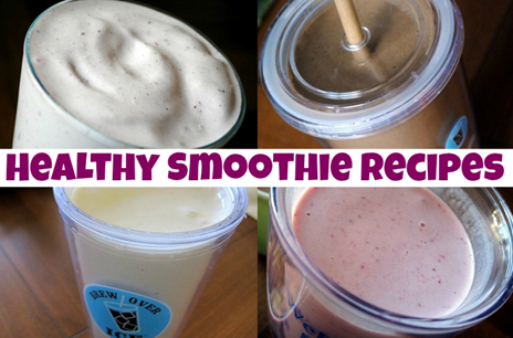 Healthy Smoothie Recipes: Mocha, chocolate peanut butter cup, strawberry banana, key lime pie and more!
