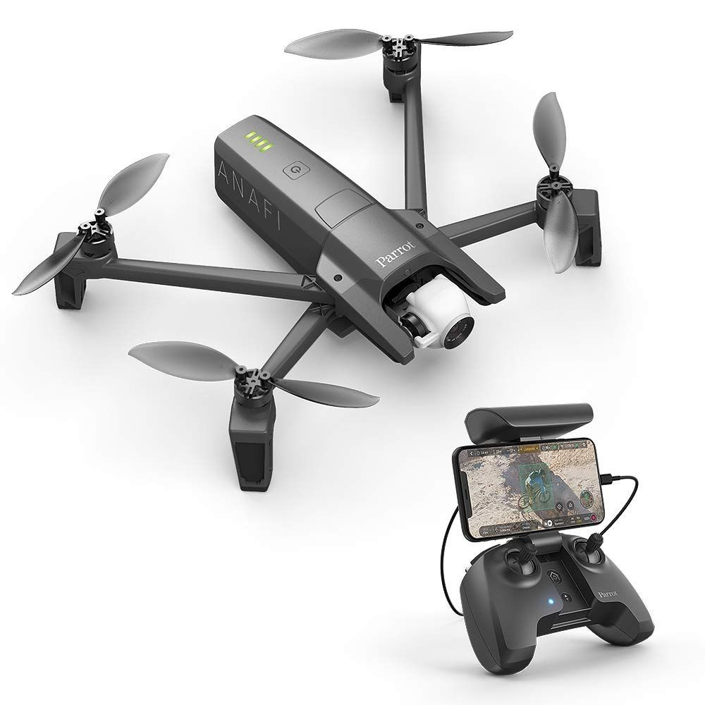 Photo of Parrot PF728000 Anafi Drone, Foldable Quadcopter Drone with 4K HDR Camera, Compact, Silent & Autonomous, Realize Your shots with A 180° Vertical Swivel Camera, Dark Grey