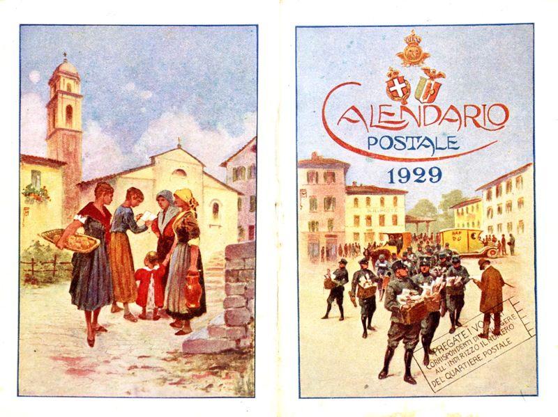 Calendario 1929.Calendario 1929 Il Natale Delle Poste Immagini Storiche
