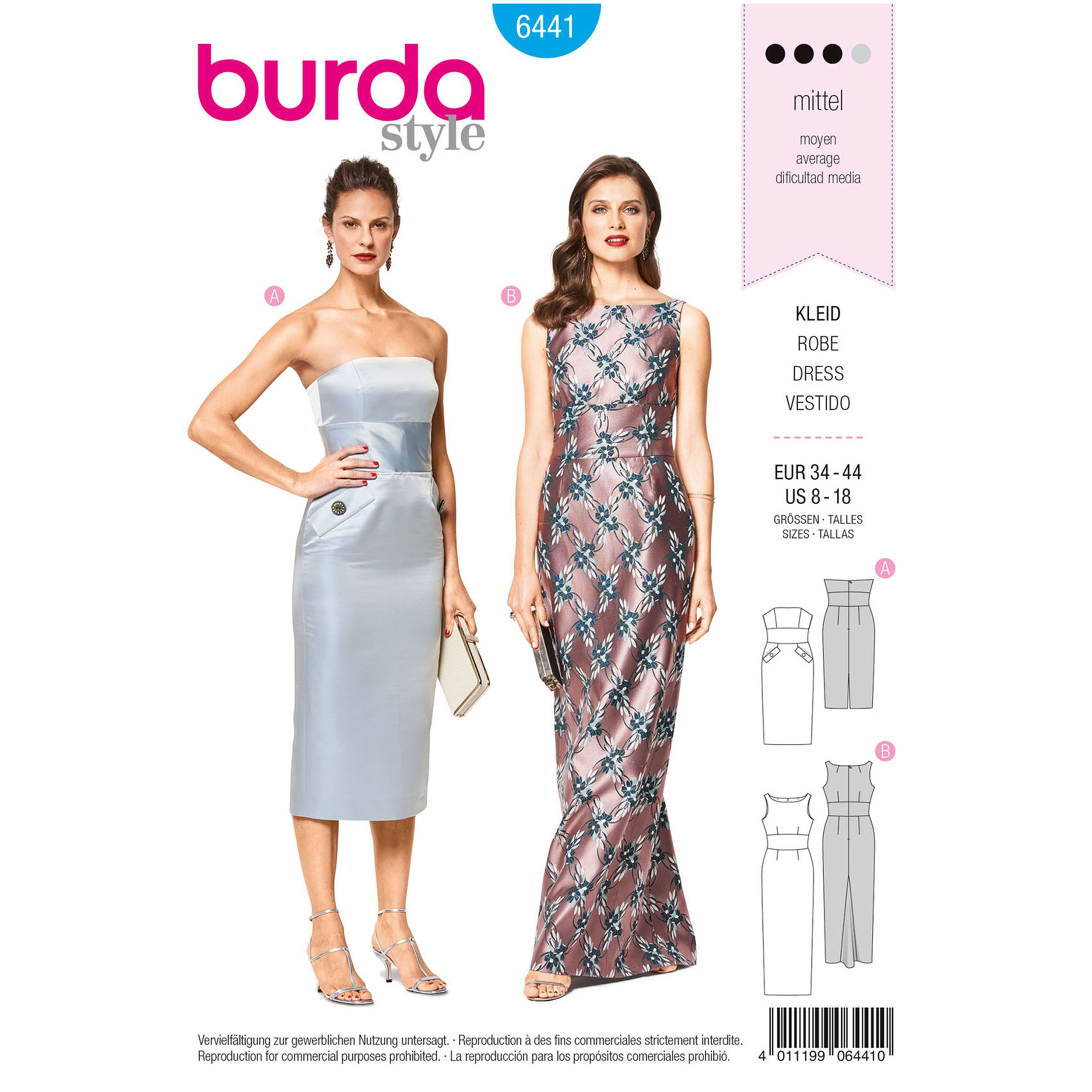 be841f6c Create glamorous evening wear or special occasion gown for Misses in  different styles. A Burda Style sewing pattern available at Simplicity.com.