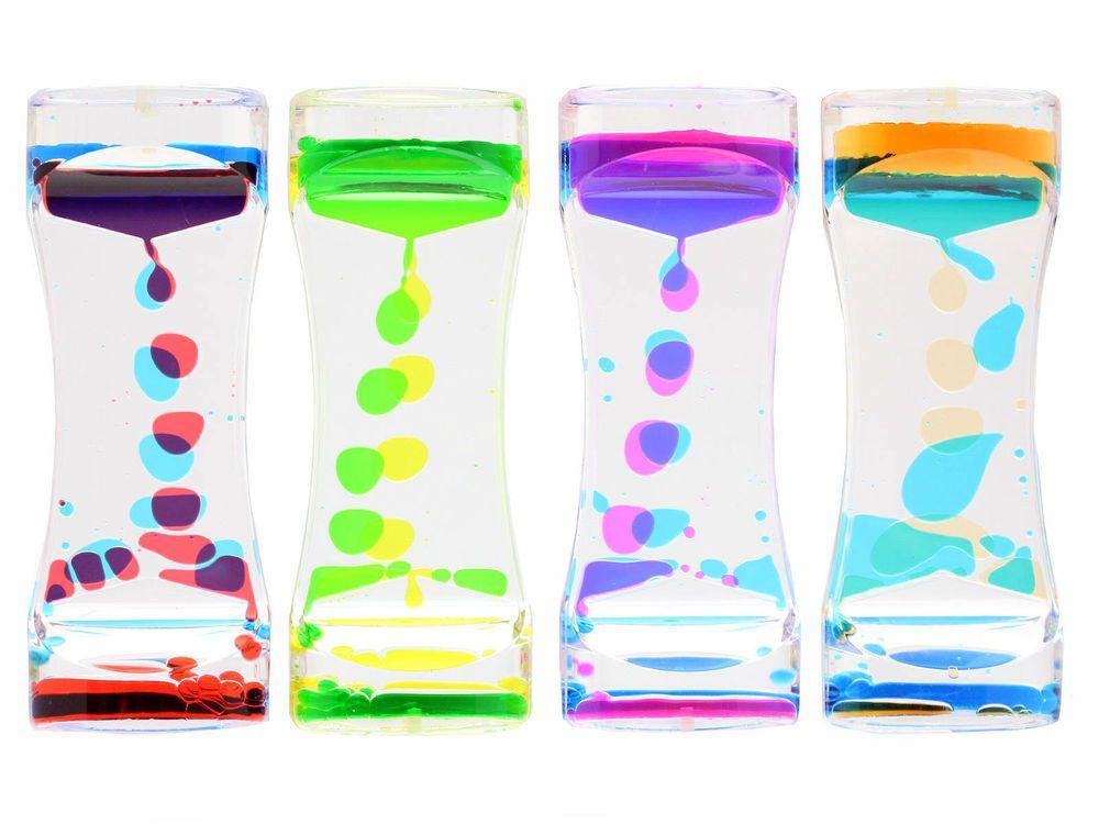 Trio Colour Liquid Acrylic Oil Sensory Calming Motion Timer ASD ADHD Downes Sen