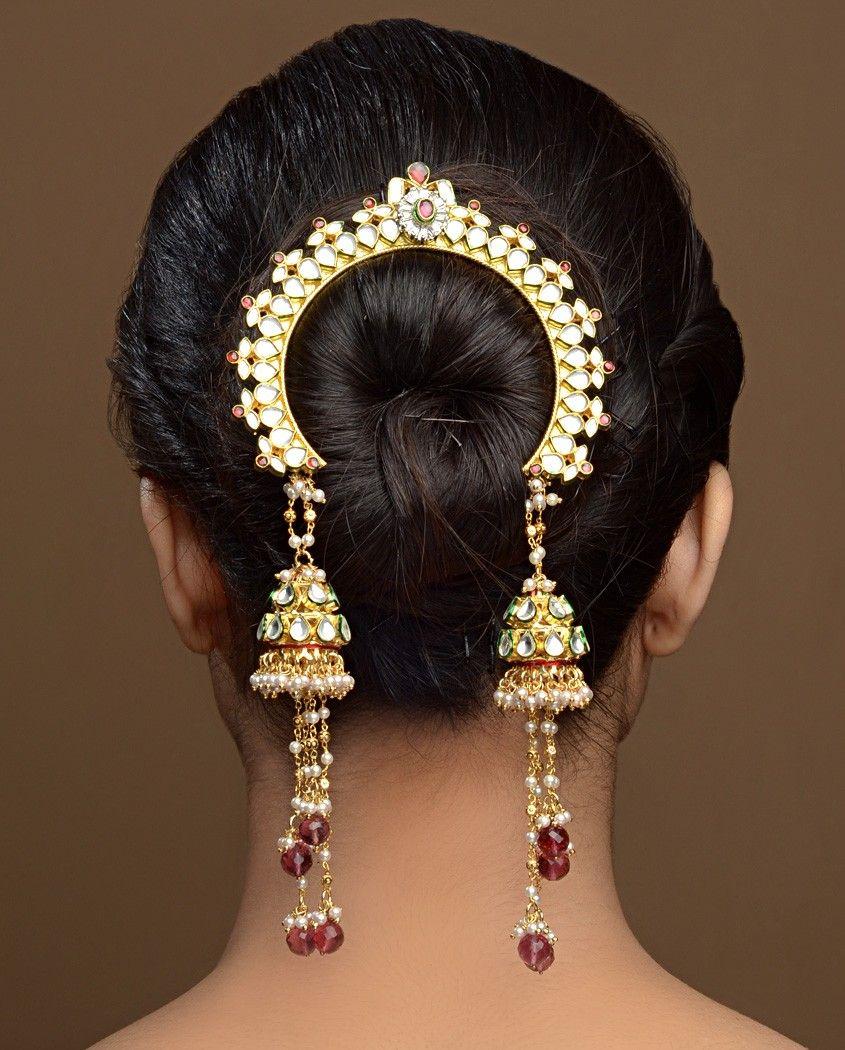 Wedding Hairstyle Jewellery: Tasseled Jhumki Jooda Pin By Bansri Joaillerie