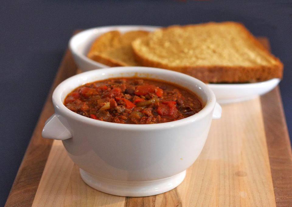 Warm Up With This Slow Cooker Ground Beef And Sausage Chili Recipe Ground Beef Chili Ground Beef Chili Recipes