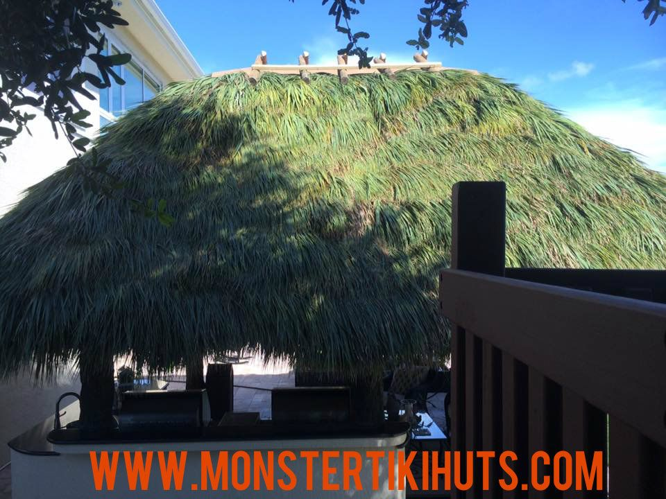 tiki hut roof thatching - http://www.monstertikihuts.com/tiki-hut-roof-thatching/  Visit http://www.monstertikihuts.com to read more on this topic. You will read all about Tiki Huts, Backyard Tiki Huts, Tiki Hut Construction,Tiki Hut Repairs & Re-thatching