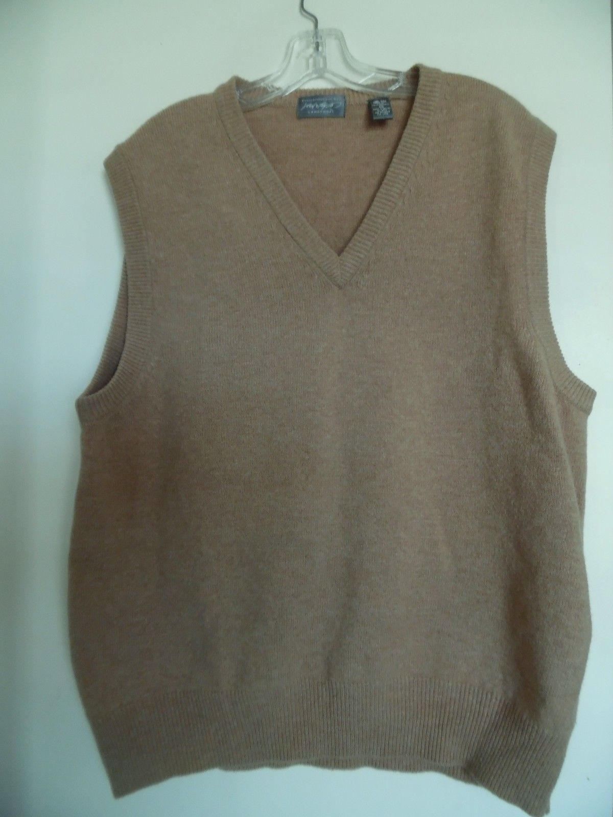 LORD & TAYLOR Men's Sweater Vest 100% Lamb's Wool XL Camel | Men's ...