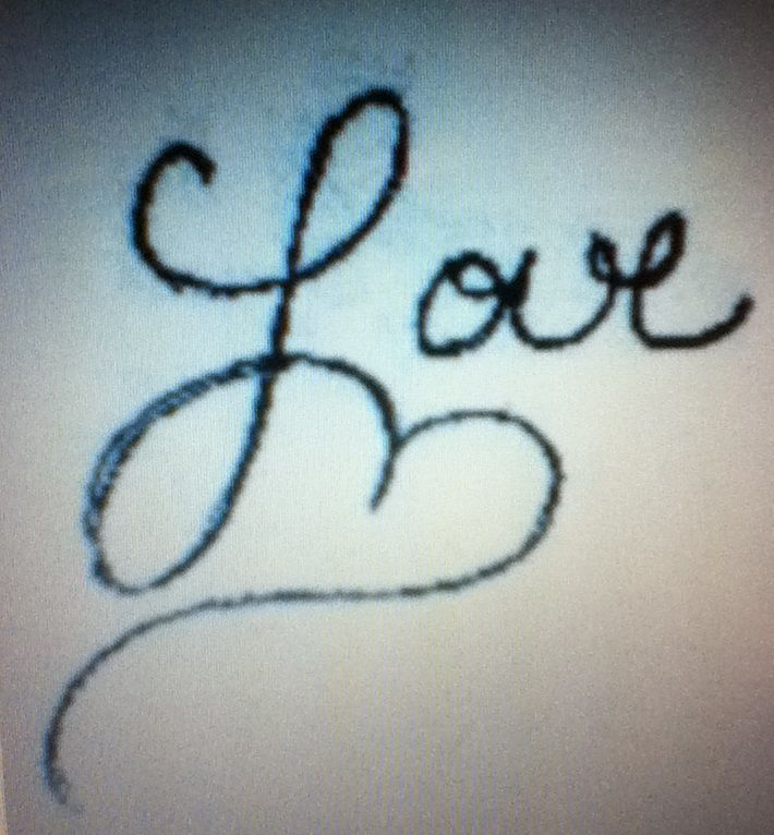 love tattoo. cursive tattoo body art writing.