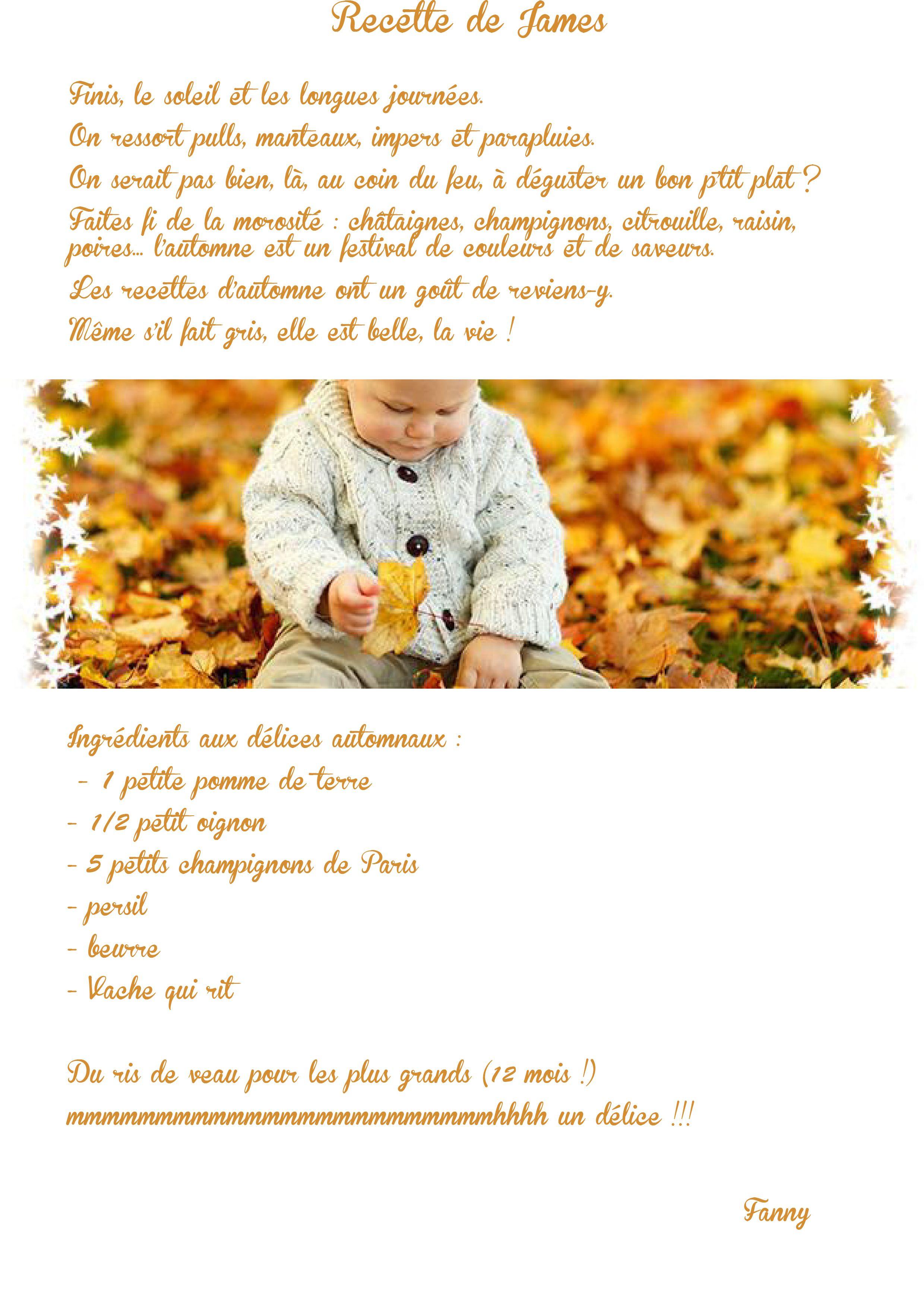 recette de James, spéciale automne