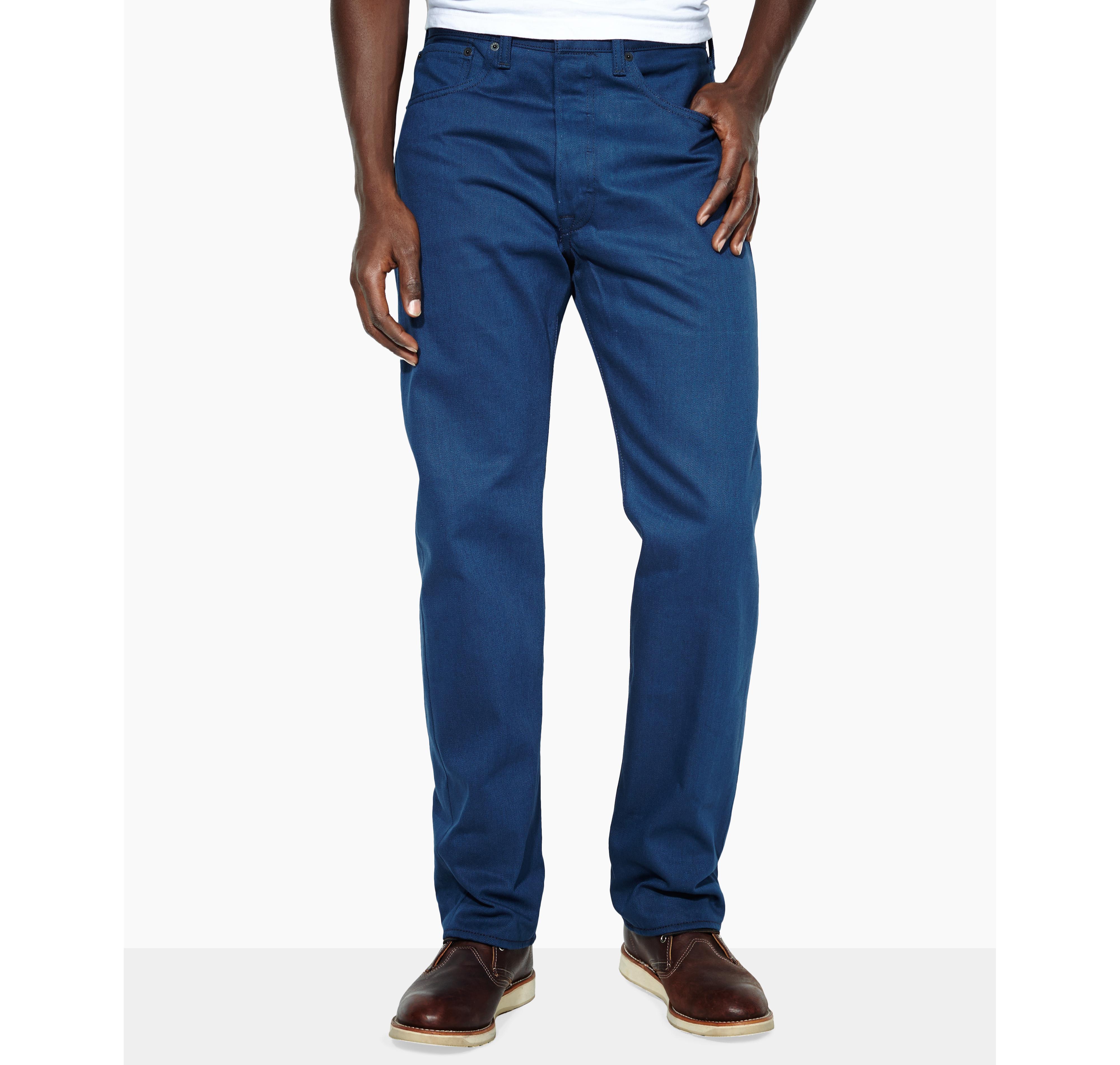 Levi's 501 Original Shrink-to-Fit Cobalt Blue Wash Jeans