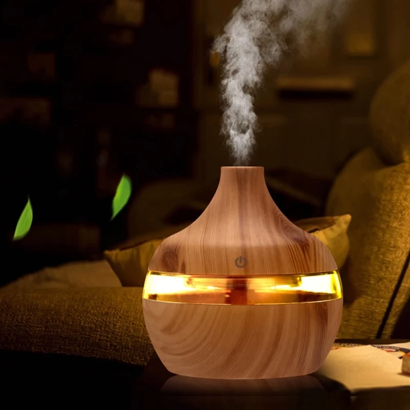 LED diffuser 300ml Ultrasonic Essential Oil Diffuser ,Room Humidifier Aroma Diffuser Portable Air Humidifier with Ionizer