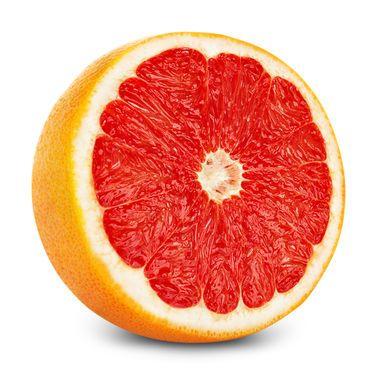 Grapefruit + salt = natural, delicious smelling natural bath scrubber.