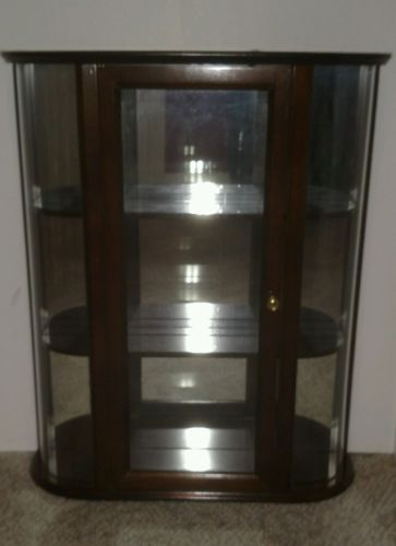 LARGE RETIRED BOMBAY COMPANY WALL HANGING CURIO CABINET