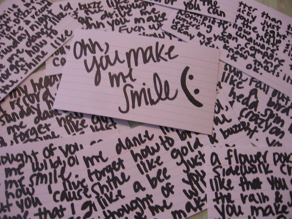 you make me :)