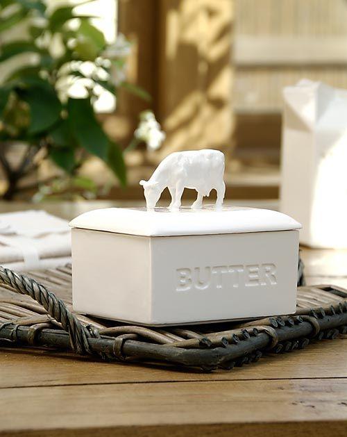 European butter dish