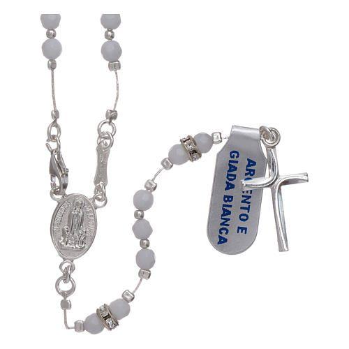 6985d398d5620 Terço centenário Nossa Senhora de Fátima prata 925 e jade