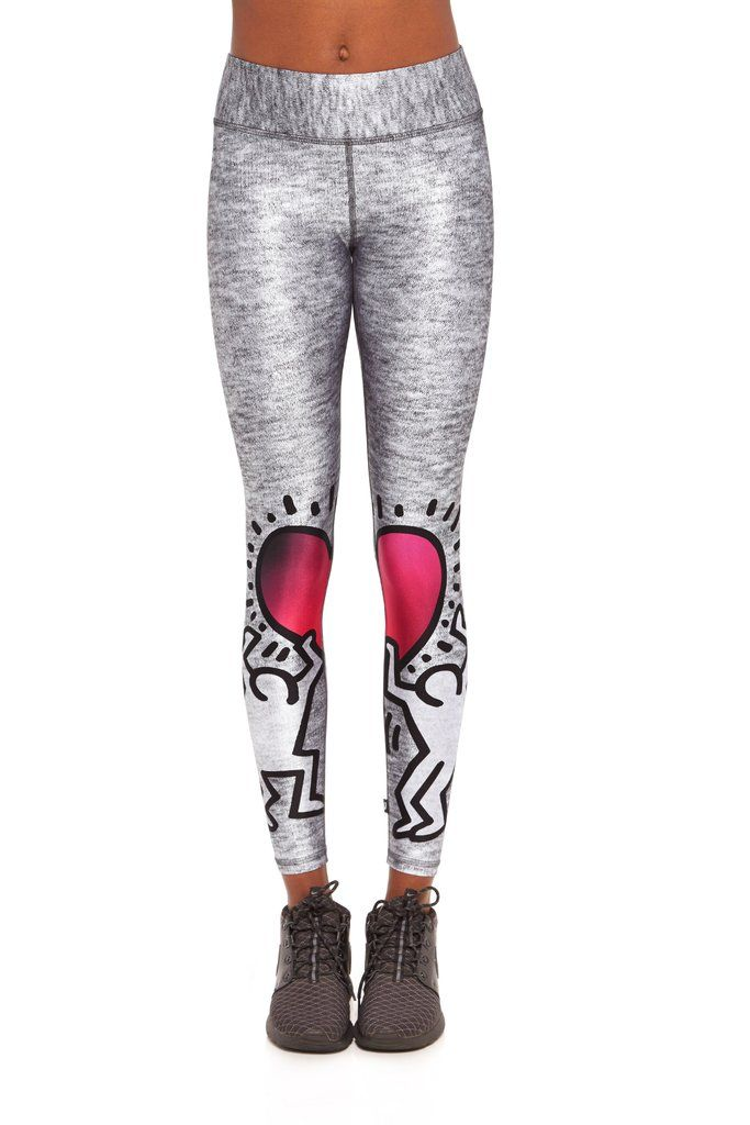 ebbd7115a670a Keith Haring Uplifted Heart Tall Band Leggings in 2019 | Athleisure ...