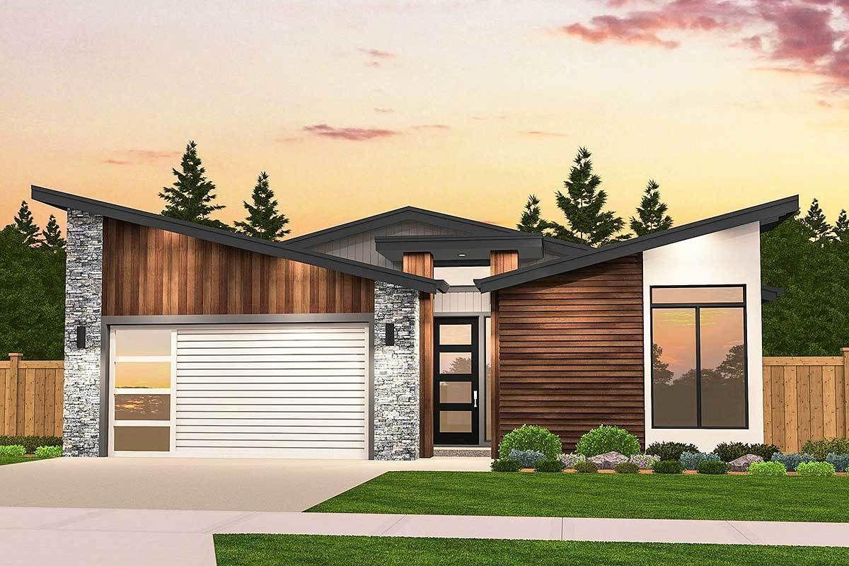 Attractive Modern House Plan 90286PD