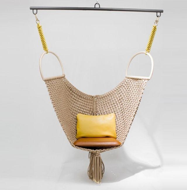 original diseño de silla colgante de crochet Colgado Pinterest