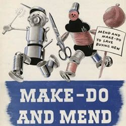 Instead of calling it Make Do and Mend, this page could be called Frugal Living or Recycle Instead of Buying New Things. This particularly applies...