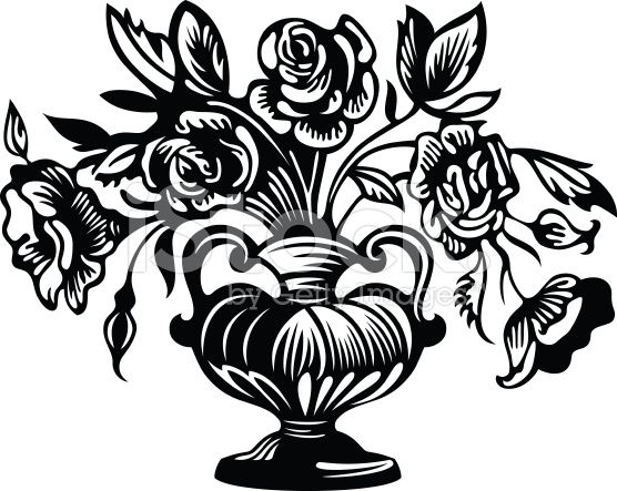 Coloring Pages Zinnia : Glass painting designs flower vases vase pinterest glass
