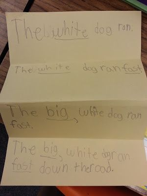 Expanding Sentences | Classroom Ideas | Second grade writing