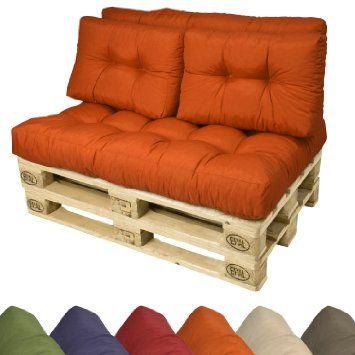 2 Set Pallet Cushions Back Pads, Pallet Furniture Cushions 120 X 60