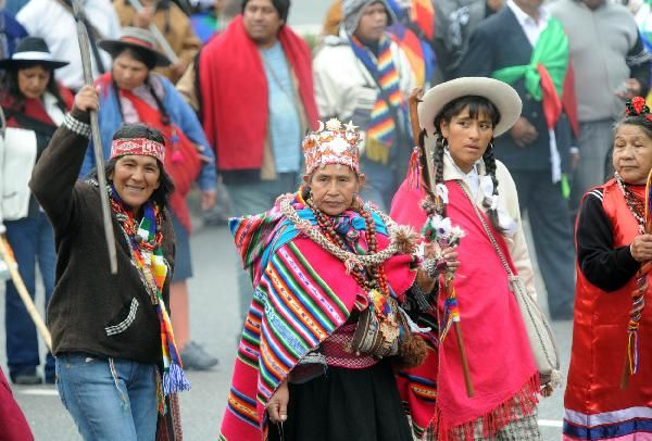 Indigenous People Living In Tribes Hold A Rally In Buenos Aires On - Argentina traditions