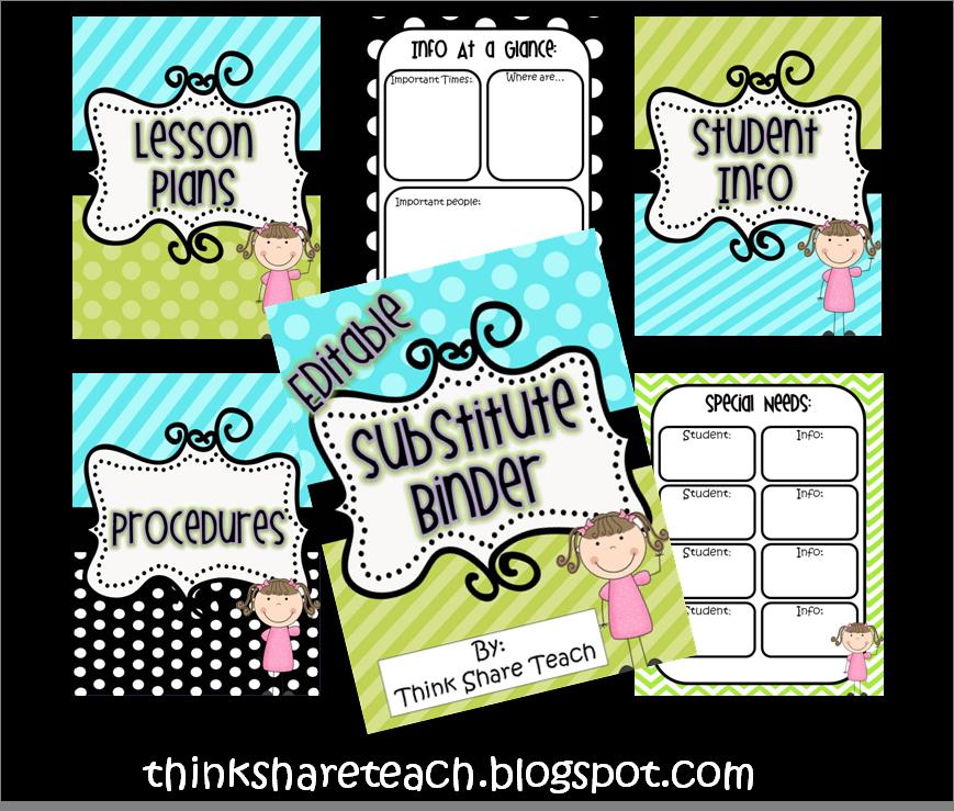think share teach freebie awesome free sub binder better