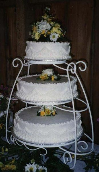 3-tier, basket weave wedding cake
