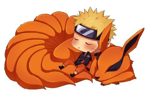 Chibi Naruto And Chibi 9 Tails Taking A Nap Xd 3 Anime Chibi