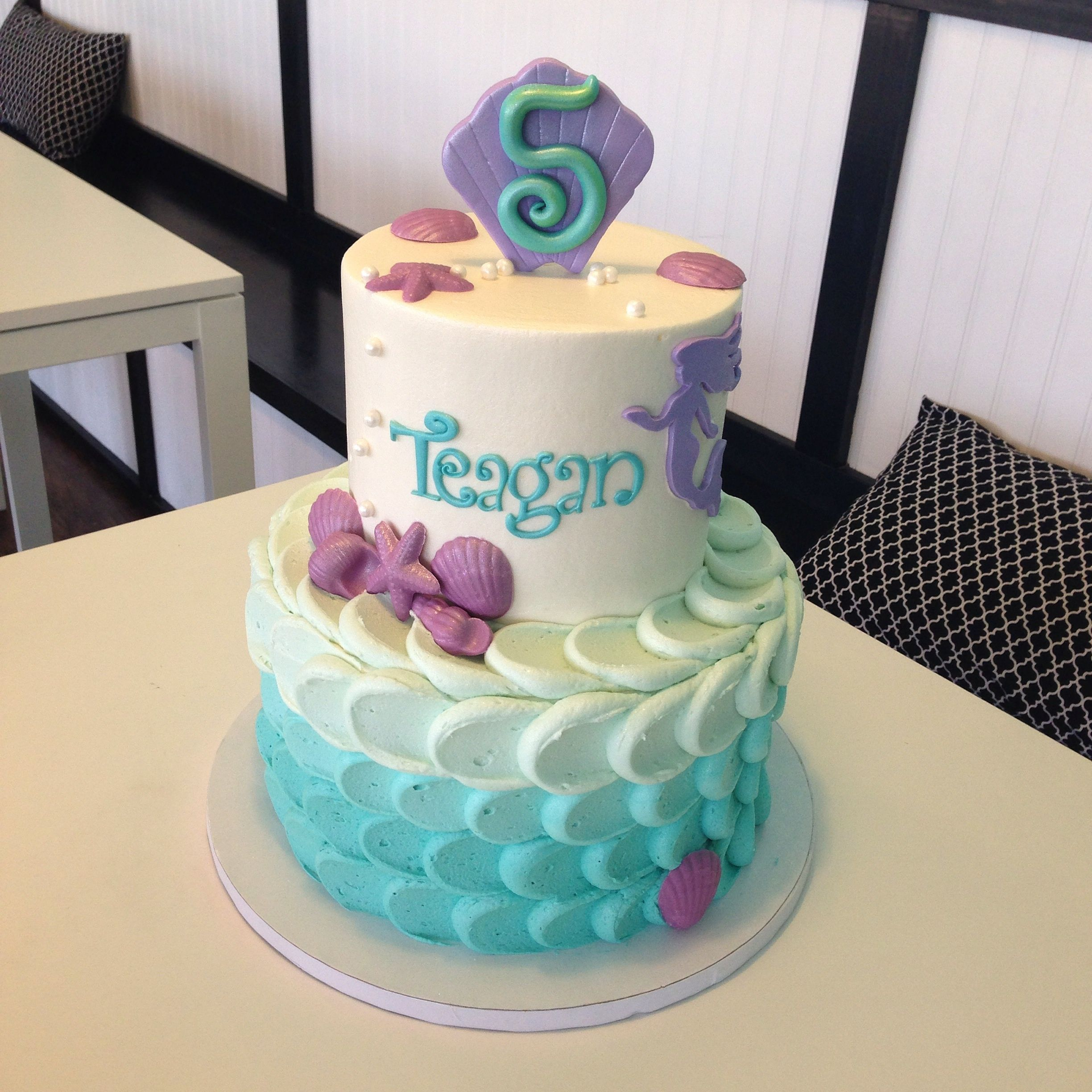 Ombr Mermaid Buttercream Cake The Cake Shop by ButterSweet