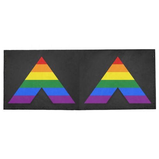 Lgbt Straight Ally Symbol Wallet Tyvek Billfold Wallet Lgbt Pride