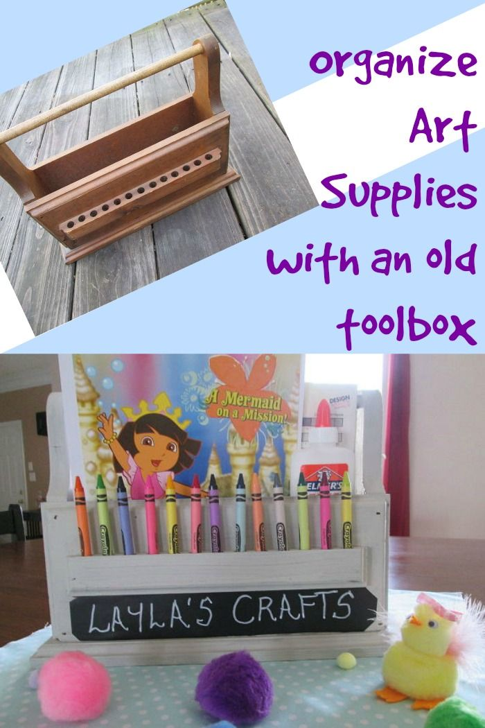 Organize Art Supplies with an Old Toolbox