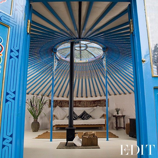 With all the creature comforts of a hotel room, yurts are a luxe way to savour the great outdoors. This Mongolian eco-yurt leaves no footprint with its recycled-oak bed and organic cottons – even the jam is from local farm. It's a true wanderlust's dream. #THEEDIT #5oftheBest
