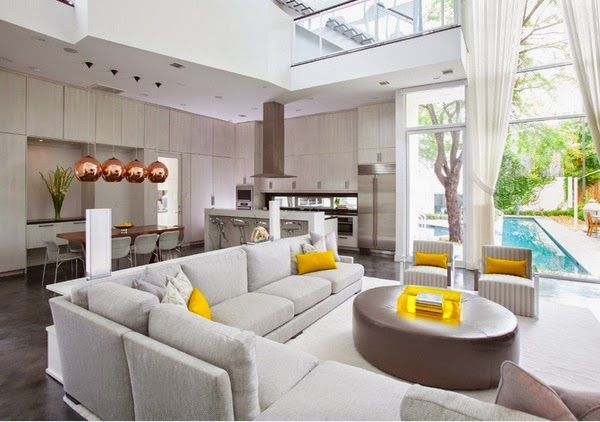 Décoration Salon Ouvert Sur La Cuisine | Cozy, Living Rooms And Room