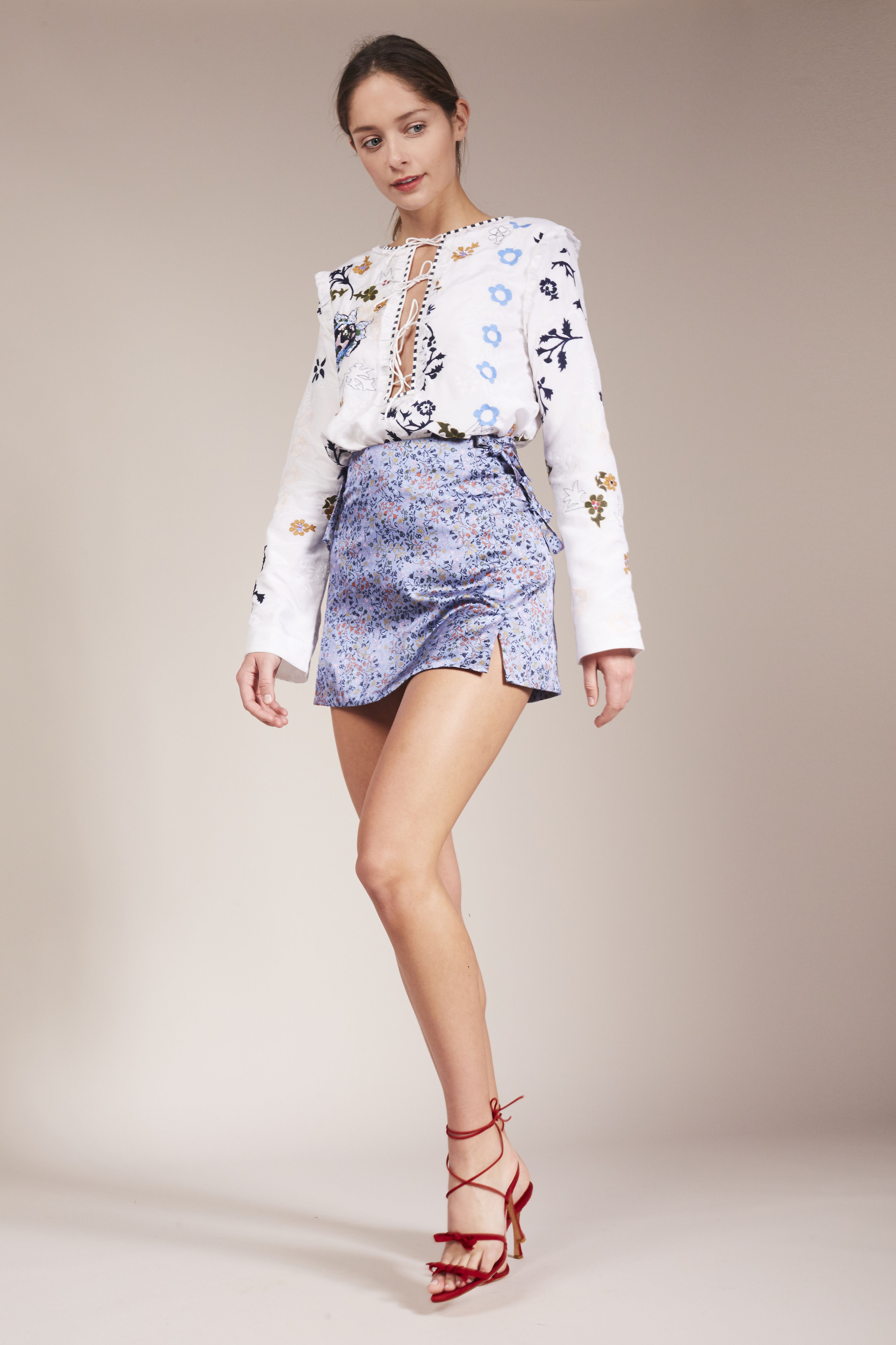 Elliette Penny Blouse & Etta Skirt | Áo sơ mi, Mac