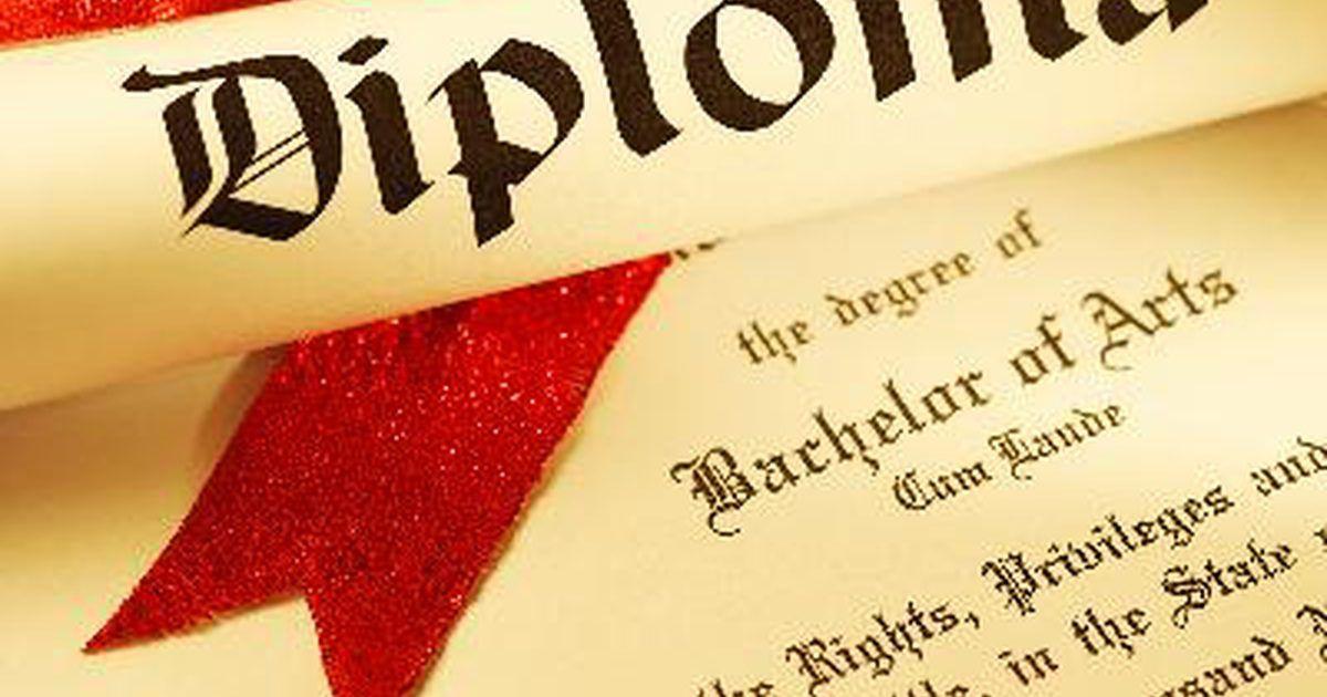 Cómo enmarcar un diploma