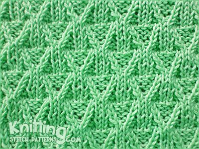 Reversible Knitting Pattern The Wickerwork Stitch Would Be Great