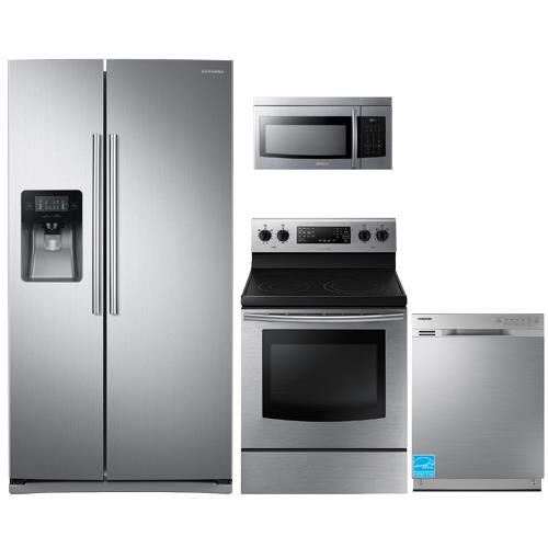 Samsung Rs25j500dsr Stainless Steel Complete Kitchen Package Complete Kitchens Kitchen Kitchen Essentials