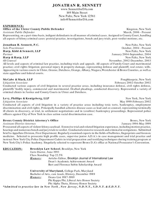 Image Result For Litigation Associate Attorney Resume Sample
