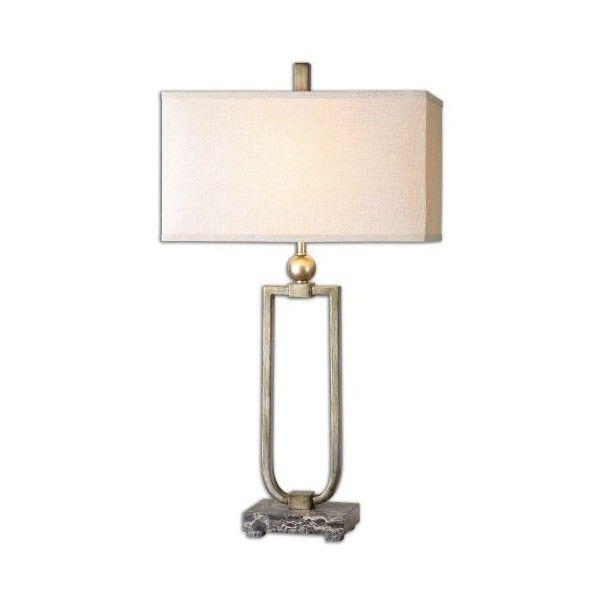 Uttermost 26140 1 Osmund 1 Light Table Lamp Antiqued Burnished ($257) ❤  Liked