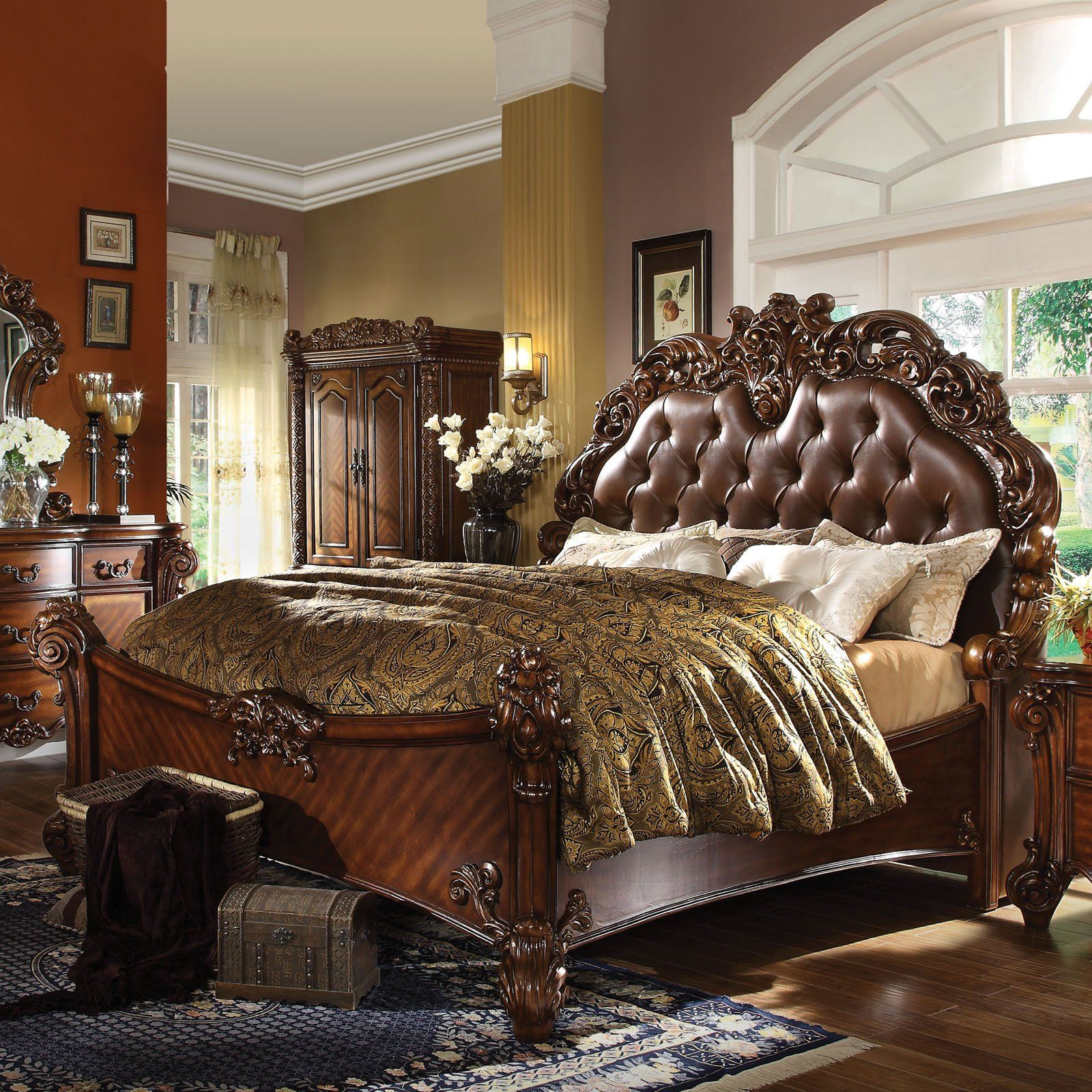 Acme Furniture Vendome Panel Bed Upholstered Panel Bed Furniture Panel Bed