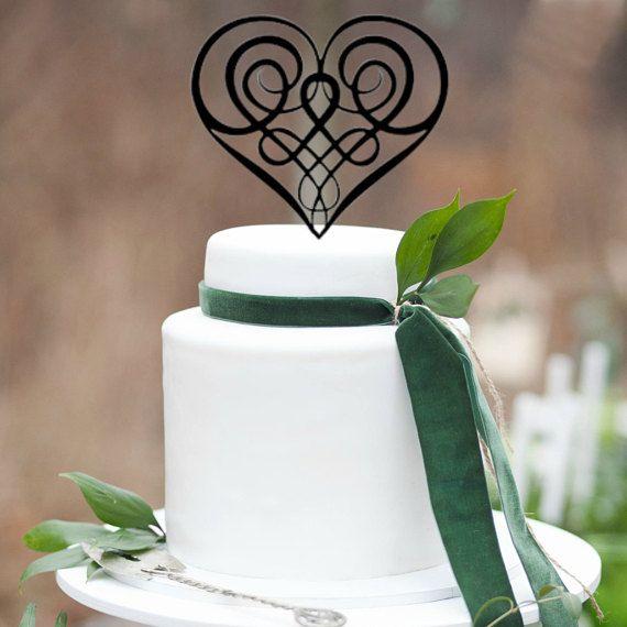 ON SALE Wedding Cake Topper Celtic Cake Topper Irish | Wedding Ideas ...