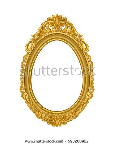 classic gold frame on white wood wall | Picture Frame | Pinterest ...