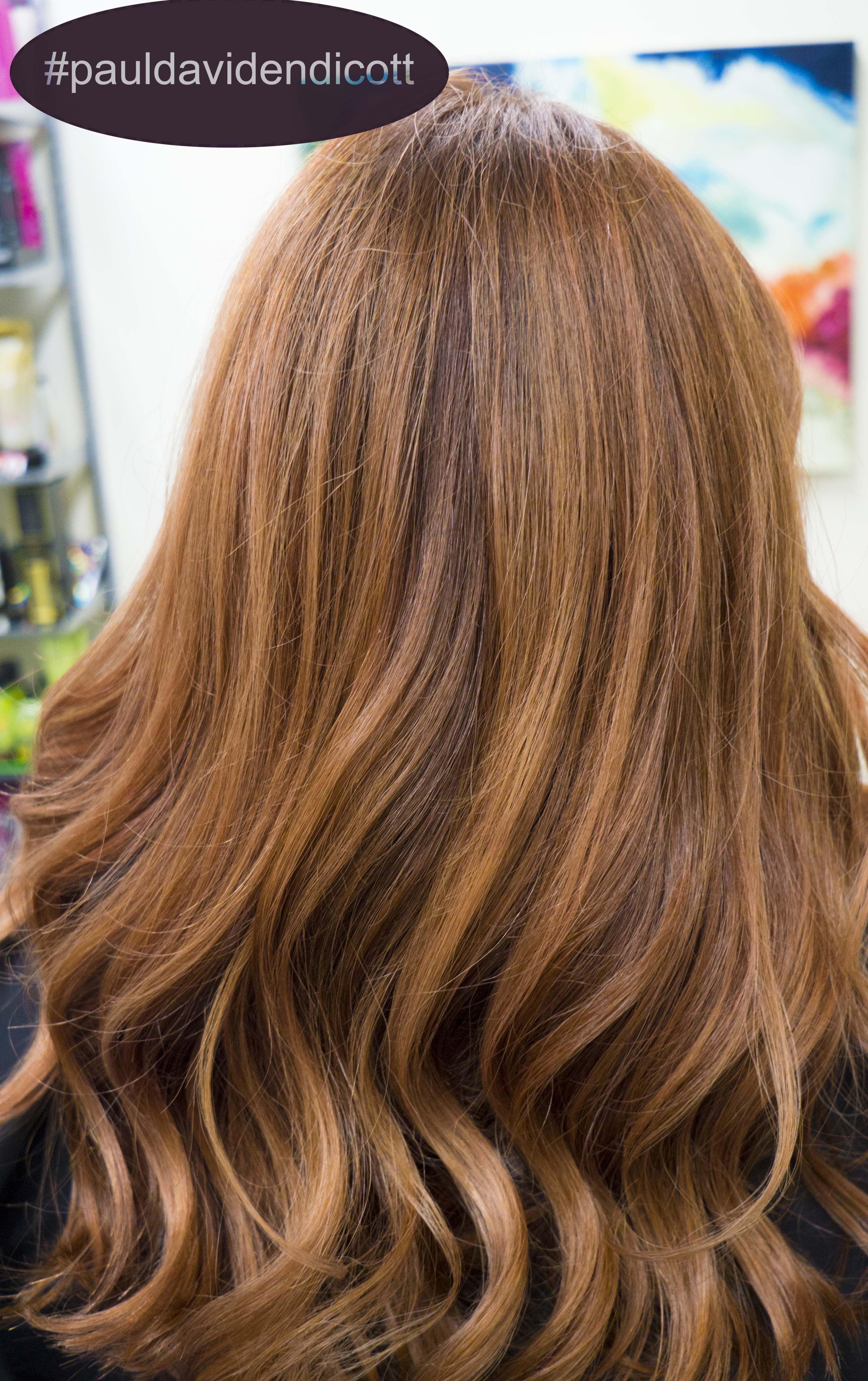 Pauldavidendicott rosegoldhair redhair balayage new hair