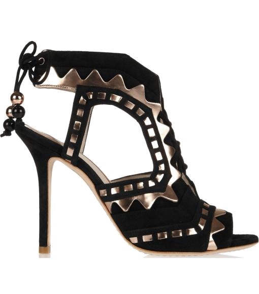 Riko cutout suede and leather sandal by Sophia Webster #Matchesfashion