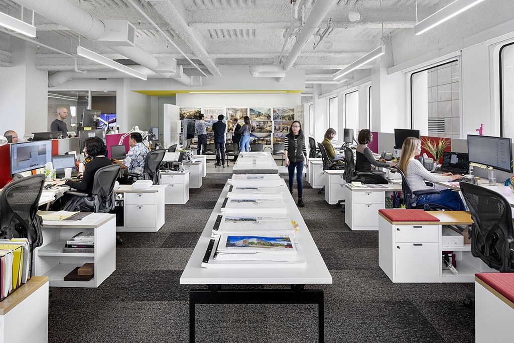 Flad Architects With Images Open Space Office Architect Open
