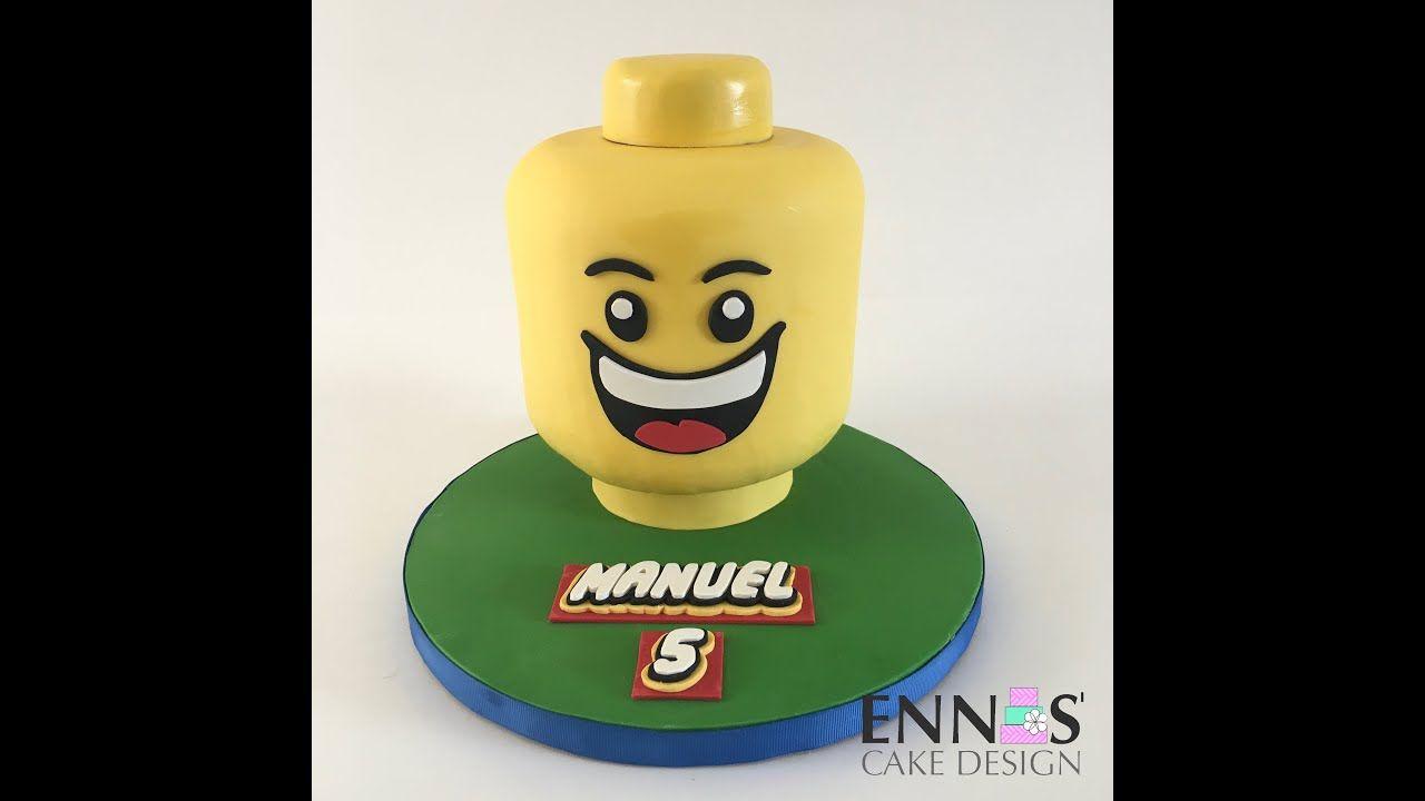 Free lego head cake tutorial lego head cake cake