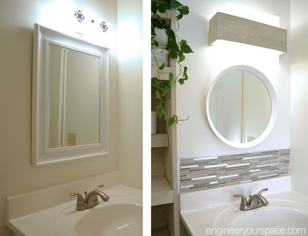 Diy Small Bathroom Remodel This Bathroom Makeover Has It All A Beautiful Backsplash Made Small Bathroom Diy Small Bathroom Remodel Bathroom Remodel Small Diy