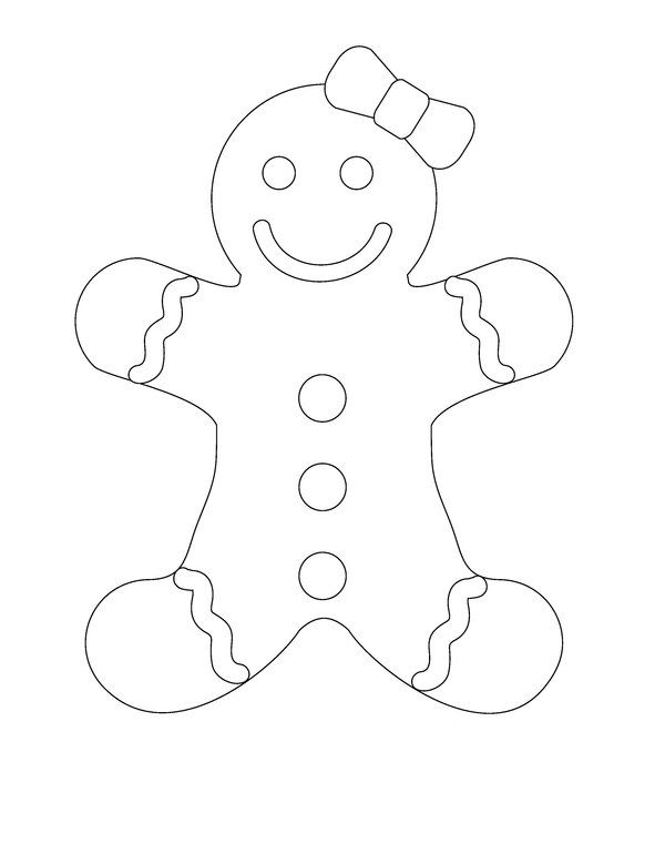 gingerbread man template - Google Search Designs for Family